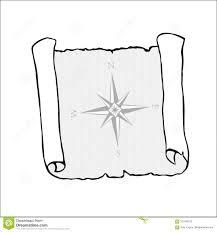 эскиз старой карты изолированный на белизне с морским компасом на