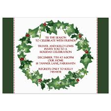 printable christmas party invitation template holly wreath design printable holiday party invitation holly wreath