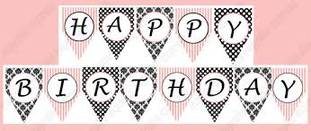 Happy Birthday Signs To Print Printable Happy Birthday Banner Letters Black And White