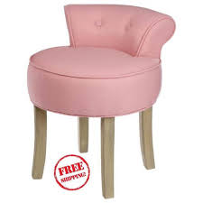 dressing table chair low back stool dusky pink las padded shabby chic vanity