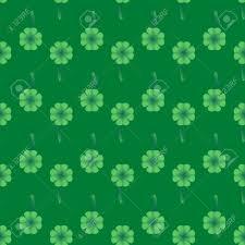 Bladeren Van Klaver Met Gradiënt Op Groene Achtergrond Abstract