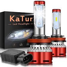 KaTur <b>H8</b> H9 H11 H16(Japan) Led Headlight Bulbs <b>CSP</b> Chips Mini ...