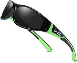 Duco Kids Sports Style Polarized Sunglasses Rubber Flexible ...