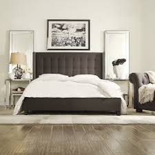 dark grey upholstered bed. Perfect Upholstered Doolin Upholstered Bed U2013 King Size For Dark Grey H