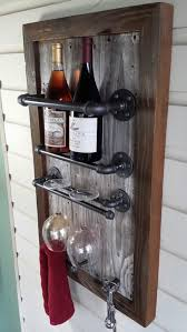 Industrial Pipe Wine Rack
