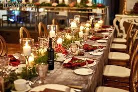 Round Table Settings For Weddings Wedding Table Settings Round Table Set With Menus And Floral