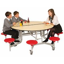 8 seat round school folding table