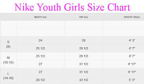 Nike Youth Size Chart Shorts Right Size Chart For Teens 2019