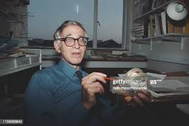 British biophysicist Aaron Klug pictured in his office at Peterhouse...  News Photo - Getty Images