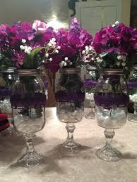 Silk Flowers On Wine Glass | Redneck Wine Glass