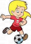 Image result for girls playing football cartoon