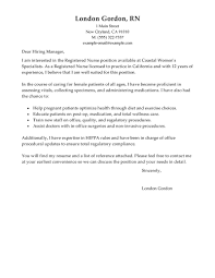 Registered Nurse Resume Cover Letter Free Resume Example And