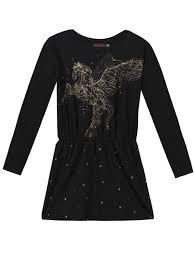 Catimini Graphic City Black Jersey Dress Girls Size 16 Last One