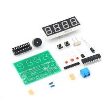 picture of how to set up time and alarm in c51 4 bits digital electronic clock