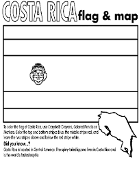 Small Picture Costa Rica coloring page geography Pinterest Costa rica