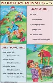 Jack Jill Ding Dong Bell For Nursery Rhymes Chart