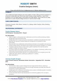 Graphic Designer Career Objective Designer Resume Samples Examples And Tips