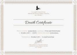certificate template pages 13 sample death certificate templates pdf doc free premium