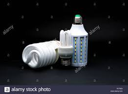 Different Types Of Led Lights Three Type Of Led Lamp On Black Background Stock Photo