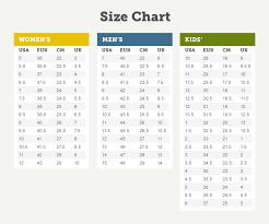 Uk Foot Size Chart To India Nike Shoe Size Chart Uk Nike Running Shoes
