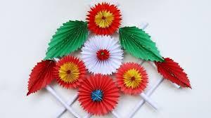 Paper Flower Video Make Simple Easy A Paper Flower Diy Paper Craft Ideas Videos Tutorials
