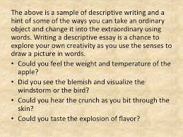 english descriptive writing 16
