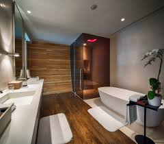 beach house bathroom. Sleek Bathroom, Glass Shower, Pink Lighting, Iniala Beach House In Phuket, Thailand Bathroom S