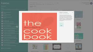 Publisher Cookbook Template Create A New Publication In Publisher Instructions