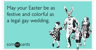 Card e easter gay