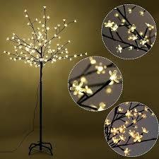 donovan led 3 light tree floor lamp cherry blossom holiday decor warm white