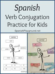 Pensar Verb Chart Spanish Verb Conjugation Practice For Kids Spanish Playground
