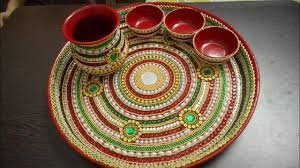 Pooja Ki Thali Design Decorative Pooja Thali 2