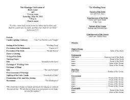 Wedding Reception Program Templates Wedding Reception Program Template Word Templates Mjaxndq