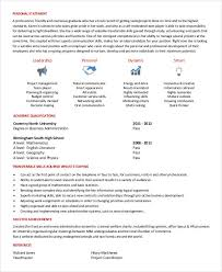Generic Resume Template New Generic Resume Template 28 Free Word PDF Documents Download