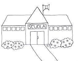 Disegni Scuola Da Colorare Per Bambini Con Disegno Casa Da Colorare