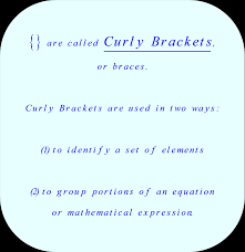 what does equation mean in math jennarocca curley brackets also called braces math the meaning of braces