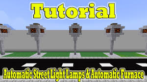 Minecraft Tutorial Of Automatic Street Light Lamps Automatic Furnace