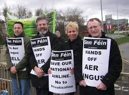Sinn Fein Protest Against Aer Lingus Privatisation - Indymedia Ireland
