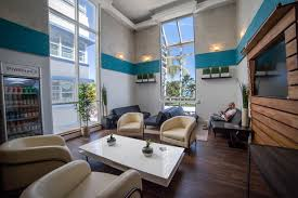 Living Room Bar Miami Ocean Blue