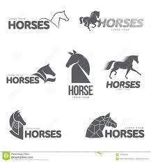 template horse horse profile graphic logo template stock illustration