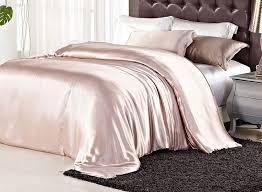 com orifashion luxury solid color 100 silk charmeuse duvet cover elegant pink champagne model sdcjsl006 queen size home kitchen