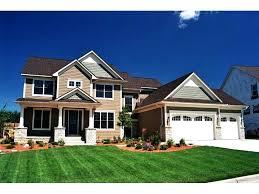 craftsman 2 story house plans garage 1 home