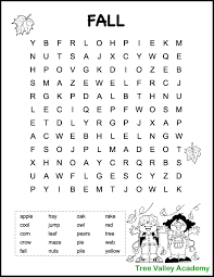 printable fall word searches for kids