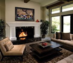 Vaulted Living Room Decorating Living Room Black Console Table Gray Sofa White Bookcases Brown