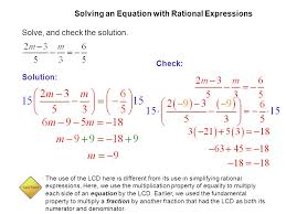 solve equations with rational expressions 5 solve