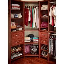 closetmaid impressions dark cherry corner shelf kit with trim white closet organizer design chrome ladder solid wood furniture dubai black desk glass wall