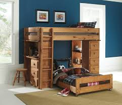 image of charleston storage loft bed with desk wooden