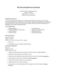 Resume Template For Internships Internship Intern Examples Best And