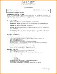 Cna Job Duties Resume Head Waiter Job Description Resume Resume Online Builder 33