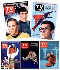 tv guide magazine. tv guide magazine covers for star trek, superman, the six million dollar man, tv